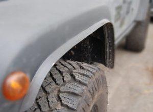 Parafanghini aggiuntivi allargamento carreggiata Jeep JK